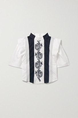 Chloé Kids - Ages 2 - 5 Embroidered Cotton Blouse
