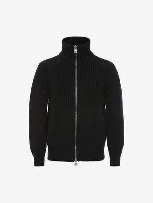 Alexander McQueen Chunky Knit Zipped Sweater