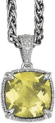 Couture FINE JEWELRY Shey Genuine Lemon Quartz and Diamond-Accent Sterling Silver Pendant Necklace