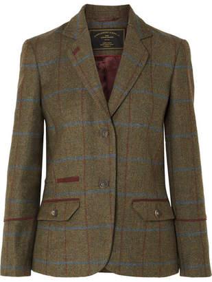 James Purdey & Sons - Alcantara-trimmed Checked Wool-tweed Blazer - Green