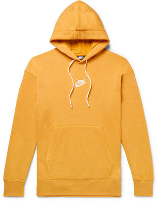 Nike Sportswear Heritage Loopback Cotton-Blend Jersey Hoodie