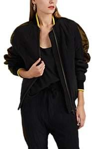 Haider Ackermann Women's Silk Oversized Bomber Jacket - Black