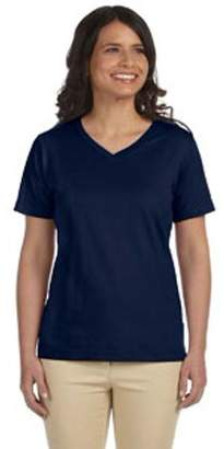 Lat LAT Ladies' V-Neck Premium Jersey T-Shirt