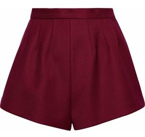 RED Valentino Pleated Twill Shorts