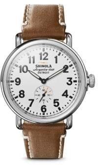 Shinola The Runwell Leather Strap Sapphire Watch