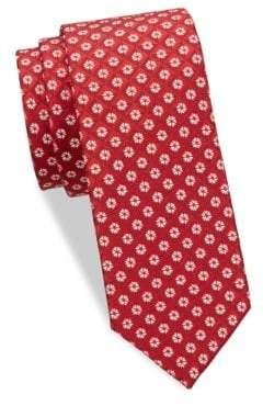 Eton Floral Diamond Silk Tie