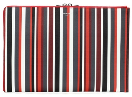 Balenciaga  Balenciaga Essential Striped Leather Clutch