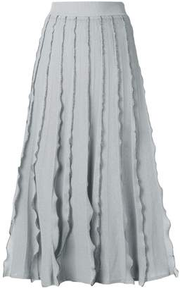 RED Valentino ruffled midi skirt