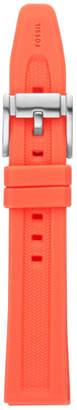 Fossil 18mm Orange Silicone Strap