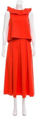 Tibi Pleated Skirt Set