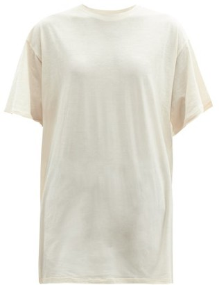 Raey Long Line Cotton Jersey T Shirt - Womens - Nude