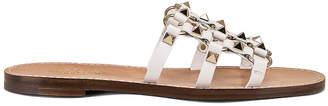 Valentino Cagestuds Sandal in Bianco Ottico | FWRD
