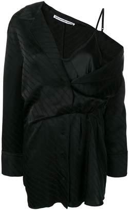 Alexander Wang exposed lace cami shirt dress