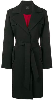 Armani Exchange belted coat