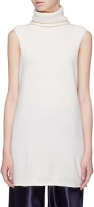 The Row 'Leond' cashmere-silk sleeveless turtleneck sweater