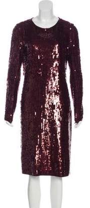 Givenchy Sequin-Embellished Knee-Length Dress w/ Tags Red Sequin-Embellished Knee-Length Dress w/ Tags