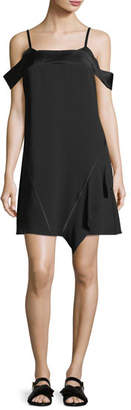 Jason Wu GREY Satin-Backed Crepe Cold-Shoulder Dress