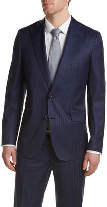 Robert Graham Sandston Wool Suit With Flat Front Pant