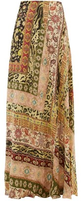 Etro Derbyshire Leopard Print Maxi Skirt - Womens - Pink Multi
