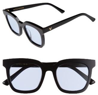 Women's Gentle Monster Finn 51Mm Sunglasses - Black/ Blue $215 thestylecure.com