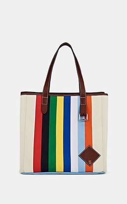 adb99142529c J.W.Anderson Women s Belt Leather-Trimmed Striped Canvas Tote Bag - Calico  Multi