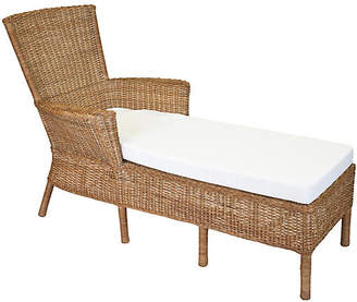 One Kings Lane Sausalito Wicker Chaise - Chestnut