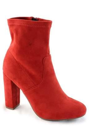 Elegant Footwear Laren Round Toe Block Heel Bootie