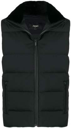 Fendi sleeveless waistcoat jacket