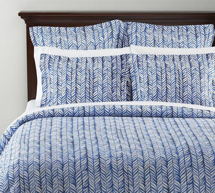 Braid Duvet Cover & Sham - Blue