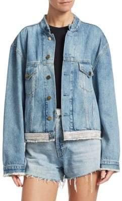 Alexandre Vauthier Rhinestone Waist Denim Jacket