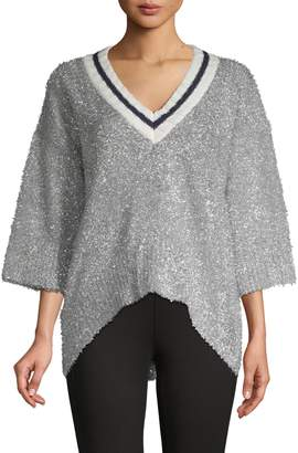 Stellah V-Neck High-Low Sweater
