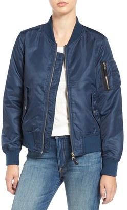 Women's Steve Madden Side Zip Bomber Jacket $68 thestylecure.com