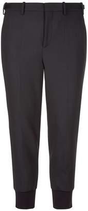 Neil Barrett Elasticated Hem Tapered Trousers