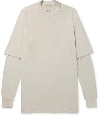 Rick Owens Oversized Layered Cotton-Jersey T-Shirt