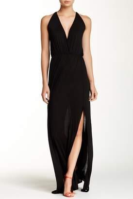Couture Go Empire Waist Slit Maxi Dress