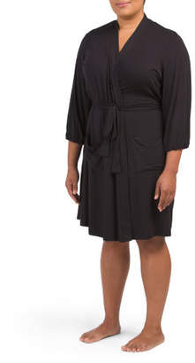 Plus Robe With Patch Pockets
