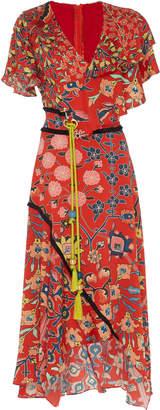 Peter Pilotto Printed Silk Sash Dress