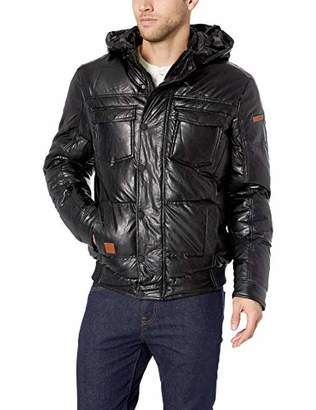 LN LUCIANO NATAZZI Men's Thermal Padded Bomber Jacket