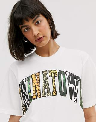 Chinatown Market boyfriend t-shirt with animal infill graphic