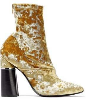 3.1 Phillip Lim Kyoto Crushed-Velvet Ankle Boots