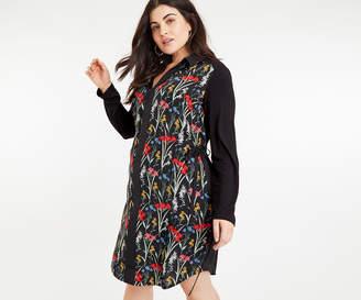 Oasis CURVE FLORAL SHIRT DRESS*