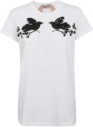 N°21 N.21 Sequin Embellished T-shirt