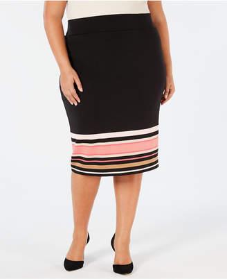 b1e356c7136 Alfani Plus Size Printed Scuba Skirt