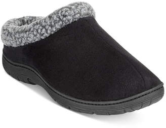32 Degrees Men's Faux Suede Roll-Collar Clog Slippers $36 thestylecure.com