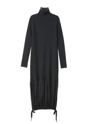 Tibi Sculpted Wool Layered Sweater Dress