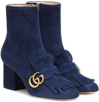Gucci Marmot suede ankle boots