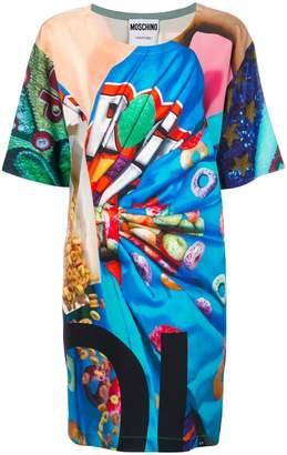 Moschino Fruit Loop printed T-shirt dress
