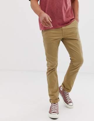 Nudie Jeans Slim Adam chino pants in beige