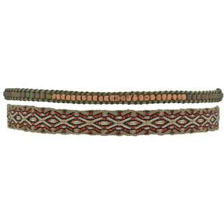 LeJu London - Mix Bracelet Set In Neutral Tones With Rose Gold Filled Faceted Beads Detail