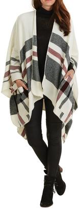 Mud Pie Plaid Blanket Poncho $39.95 thestylecure.com